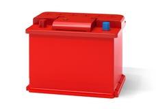 Rode autobatterij Stock Afbeeldingen