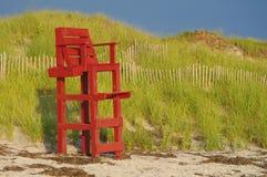Rode Badmeester Seat Royalty-vrije Stock Afbeelding