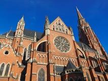 Rode baksteenkerk Stock Afbeelding