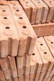 Rode baksteenmaterialen voor bouw Royalty-vrije Stock Fotografie