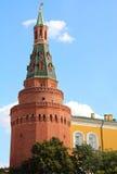 Rode baksteentoren van het Kremlin Stock Foto's