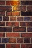 Rode bakstenen Engelse muur stock foto's