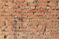 Rode bakstenen muur. Stock Afbeelding