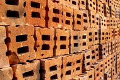 Rode bakstenen muur Royalty-vrije Stock Foto's