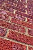 Rode bakstenen muur stock afbeelding