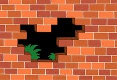 Rode bakstenen muur stock illustratie