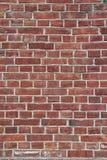 Rode bakstenen muur - loodlijn Stock Fotografie