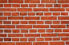 Rode bakstenen muur met grijs cementpatroon Royalty-vrije Stock Fotografie