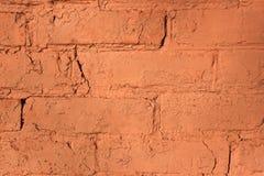 Rode bakstenen muur voor achtergrond of textuur stock afbeelding