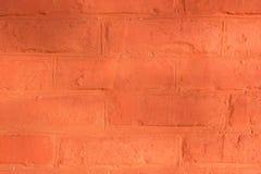 Rode bakstenen muur voor achtergrond of textuur stock afbeeldingen