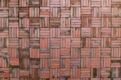 Rode bakstenen muurachtergrond Stock Foto