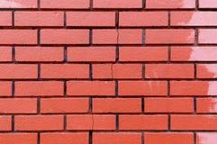 Rode bakstenen muurtextuur Stock Afbeelding