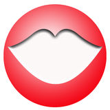 Rode bal en witte lippen Royalty-vrije Stock Foto