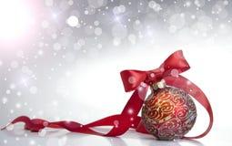 Rode bal van Kerstmis Royalty-vrije Stock Foto