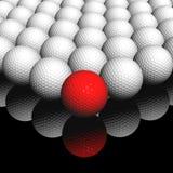 Rode bal vooraan Stock Afbeelding