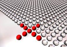 Rode ballen Stock Foto's