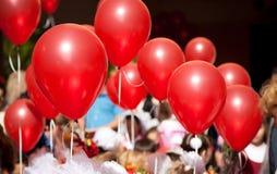 Rode ballen Stock Afbeelding