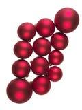 Rode ballen voor Kerstbomen Stock Afbeeldingen