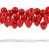 Rode Ballons Royalty-vrije Stock Afbeeldingen