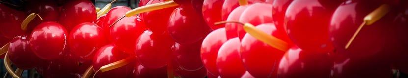 Rode Ballons Stock Afbeeldingen