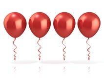 Rode Ballons Stock Afbeelding
