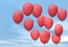 Rode ballons vector illustratie