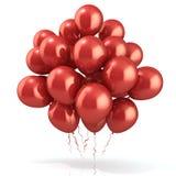 Rode ballonsmenigte Stock Foto's