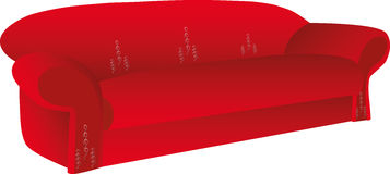 Rode bank met een zilveren patroon Royalty-vrije Stock Afbeelding