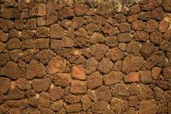 Rode basalt vulkanische rots royalty-vrije stock fotografie