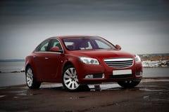 Rode bedrijfsauto royalty-vrije stock foto