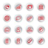 Rode bedrijfspictogrammen Stock Foto