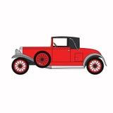 Rode beeldverhaal retro auto Stock Foto's