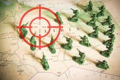 Rode beeldzoeker over rebellen op het grondgebied van Libië: nadruk op het conflict van Libië Royalty-vrije Stock Fotografie