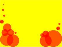 Rode bellen gele achtergrond Royalty-vrije Stock Foto