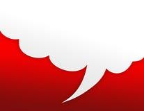 Rode bellenachtergrond Stock Afbeelding