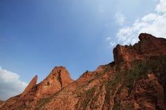 Rode berg Stock Foto's