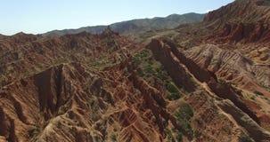 Rode bergen stock videobeelden
