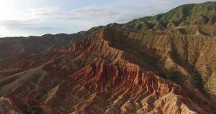 Rode bergen stock video