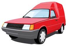 Rode bestelwagen Royalty-vrije Stock Afbeeldingen