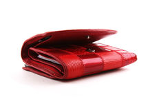 Rode beurs op witte achtergrond Royalty-vrije Stock Foto's