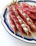 Rode bevlekte bonen op wit Royalty-vrije Stock Afbeeldingen