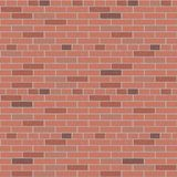 Rode binnenlandse grafisch van het bakstenen muur vectorpatroon royalty-vrije illustratie