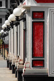 Rode bistro Stock Fotografie