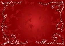 Rode bladerenachtergrond Royalty-vrije Illustratie
