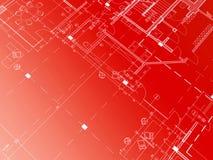 Rode blauwdruk Royalty-vrije Stock Afbeeldingen