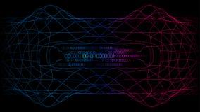 Rode blauwe complexe belangrijke cybercomputertechnologie stock illustratie