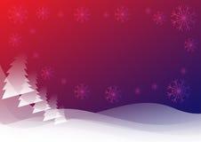Rode blauwe de winterachtergrond Stock Fotografie