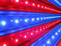 Rode, blauwe discoverlichting, machtsdetails, stock afbeeldingen