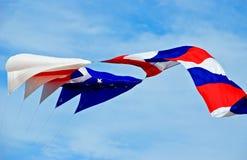 Rode, blauwe en witte vlieger met sterren Royalty-vrije Stock Afbeelding