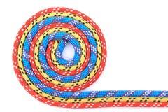 Rode blauwe gele kabelspiraal Stock Foto's